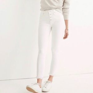 "NEW Madewell 10"" High Rise Skinny Crop"